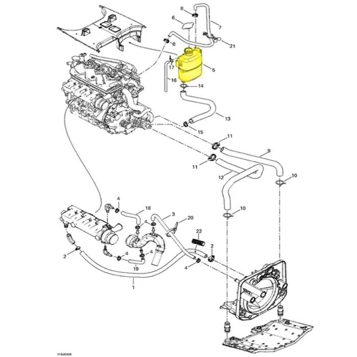 Tanque de Água para Jet Ski Sea Doo GTX/RXP/RXT 276000086