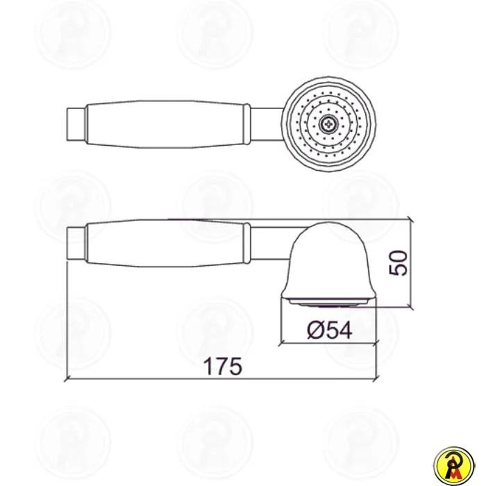 Ducha Manual com Desviador Lorenzetti Classic 4997
