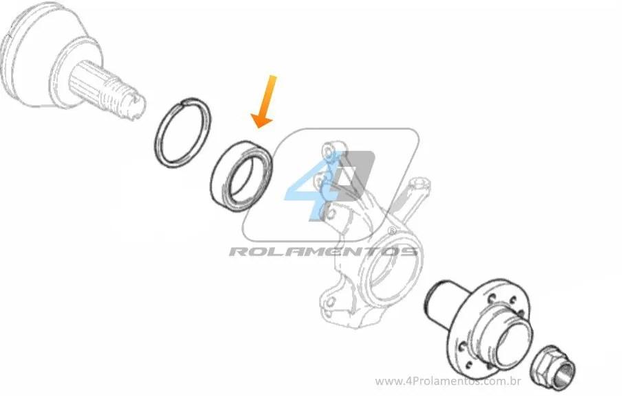 Rolamento roda Dianteira FIAT Bravo 2011-2017