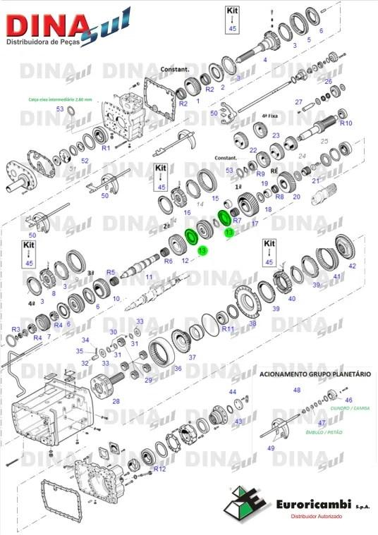 Cone Sincronizado 1ª/2ª Dinasul Distribuidora CTBA