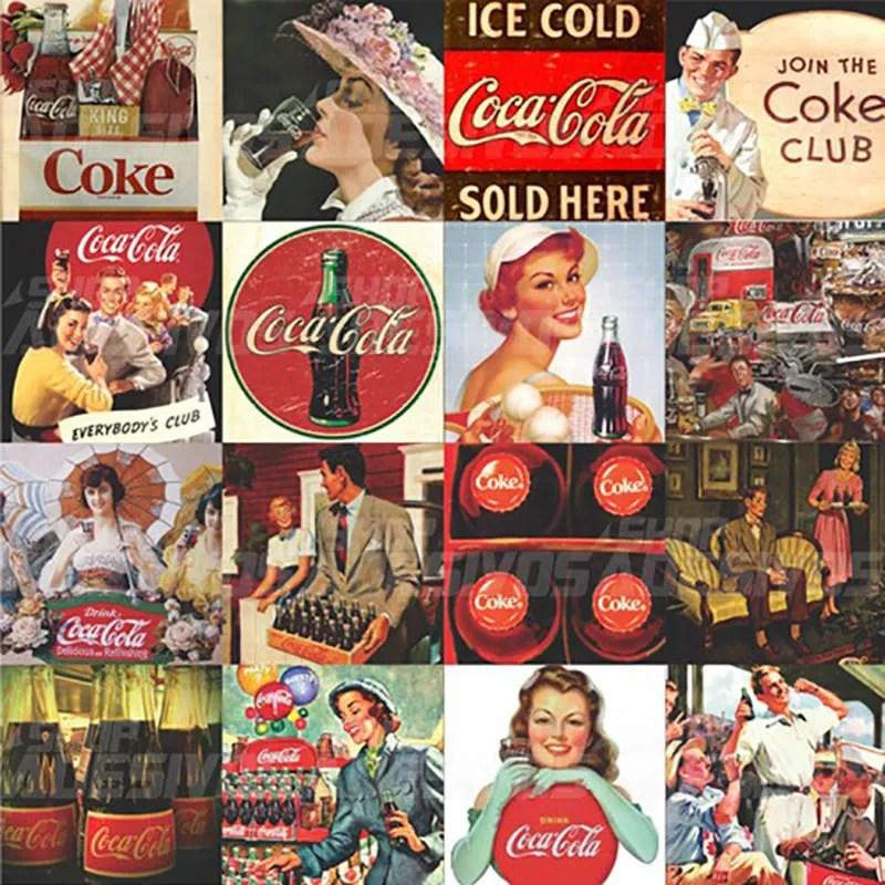 Adesivo de Azulejo Coca Cola Vintage