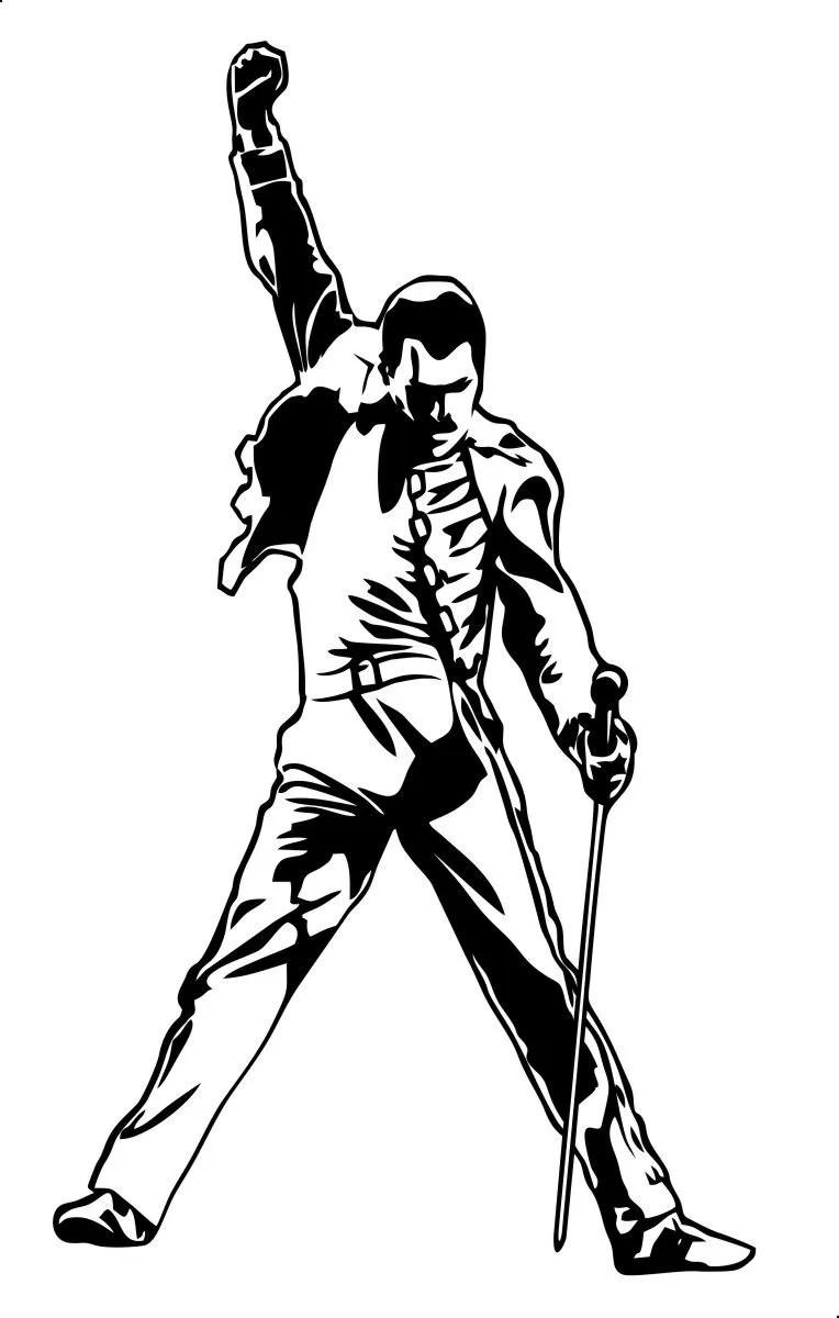 [Nome da Loja] Adesivo Freddie Mercury Modelo 1