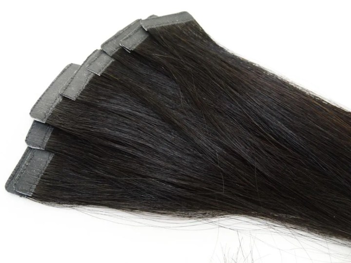 Mega Hair Fita Adesiva Cabelo Humano Classic Castanho Escuro #3 - 10 peças  55cm 25g- Mega Hair de Fita Adesiva Classic - Mega Hair Fita Adesiva -Mega  Hair de Fita Adesiva