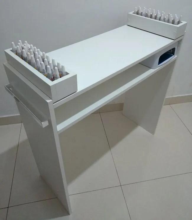 Mesa P Manicure C 2 Compartimentos PEsmaltes 100mdf