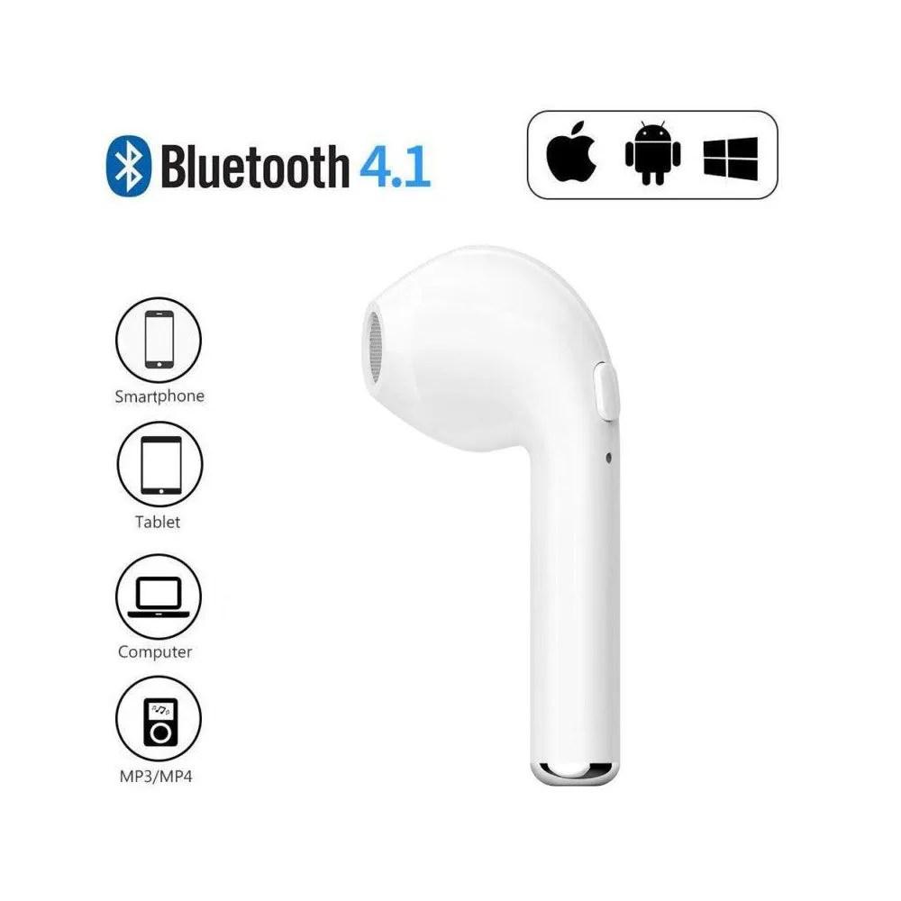 Fone de Ouvido Um Lado Wireless via Bluetooth Mono HBQ i7 i7