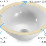 Cuba De Embutir Redonda 30x16cm Dotec Shop Cubas Tanques Inox Metais Torneiras Banheiro Lavanderia Cozinha