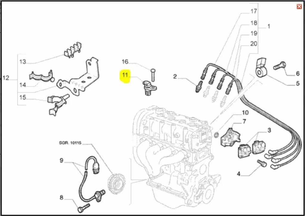 Balilla peças Sensor De Fase, Fiat, Bravo, Doblo, G. Siena