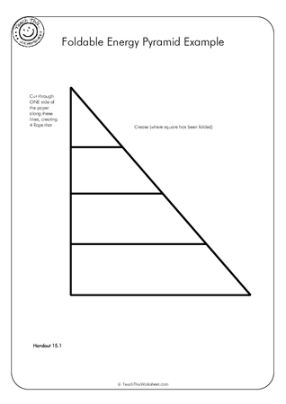 Foldable Energy Pyramid Example :: Teacher Resources and