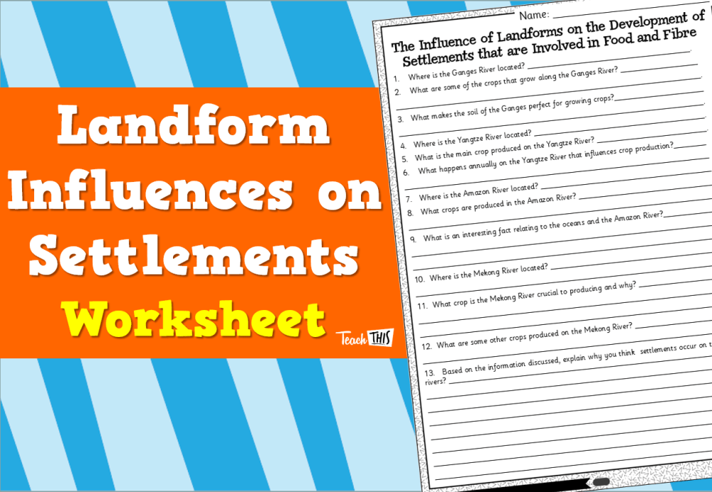 medium resolution of Landform Influences on Settlements - Worksheet :: Teacher Resources and  Classroom Games :: Teach This