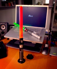 Lightsaber Desk Lamp: Totally Geeky or Geek Chic ...