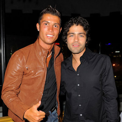 Cristiano Ronaldo will happily pose with Adrian Grenier. But Lauren Conrad...no way!