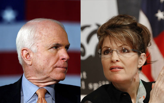 Sen. John McCain and Alaska Gov. Sarah Palin