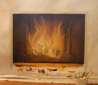 Cool Idea: Fireplace Painting | POPSUGAR Home