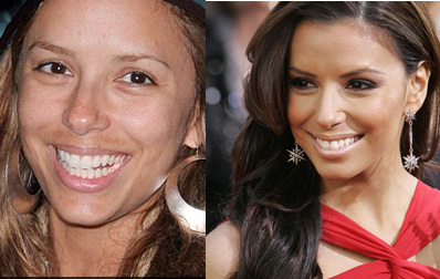 Eva Longoria is plain w/out makeup