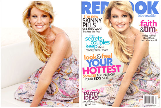 Image result for redbook faith hill airbrushing