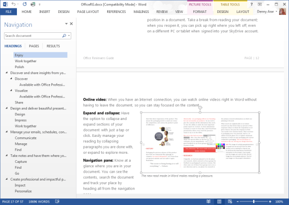 microsoft office file menu view