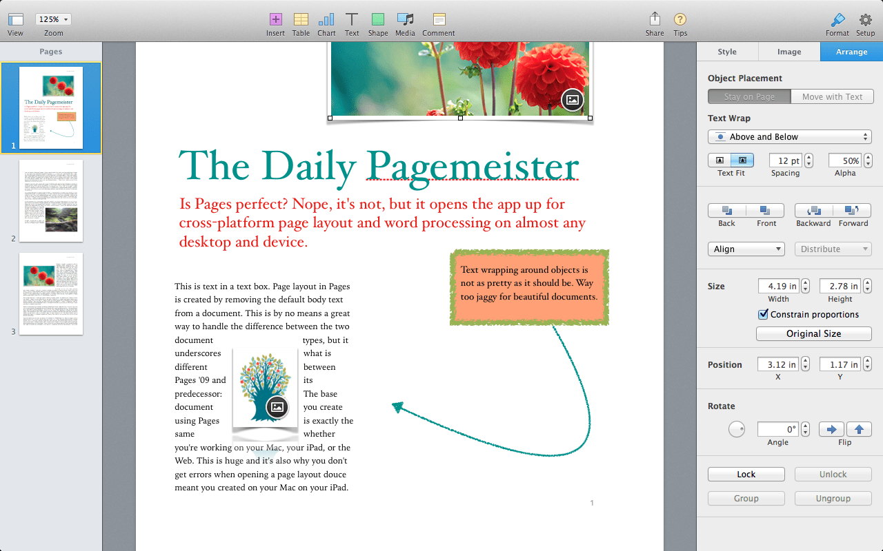 Pages 5 0 For Mac Review Apple Writes A New Chapter For