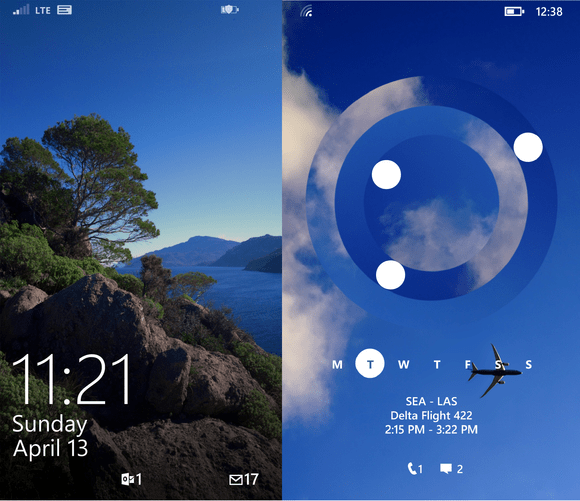 windows phone 81 lock screen now and future april 2014