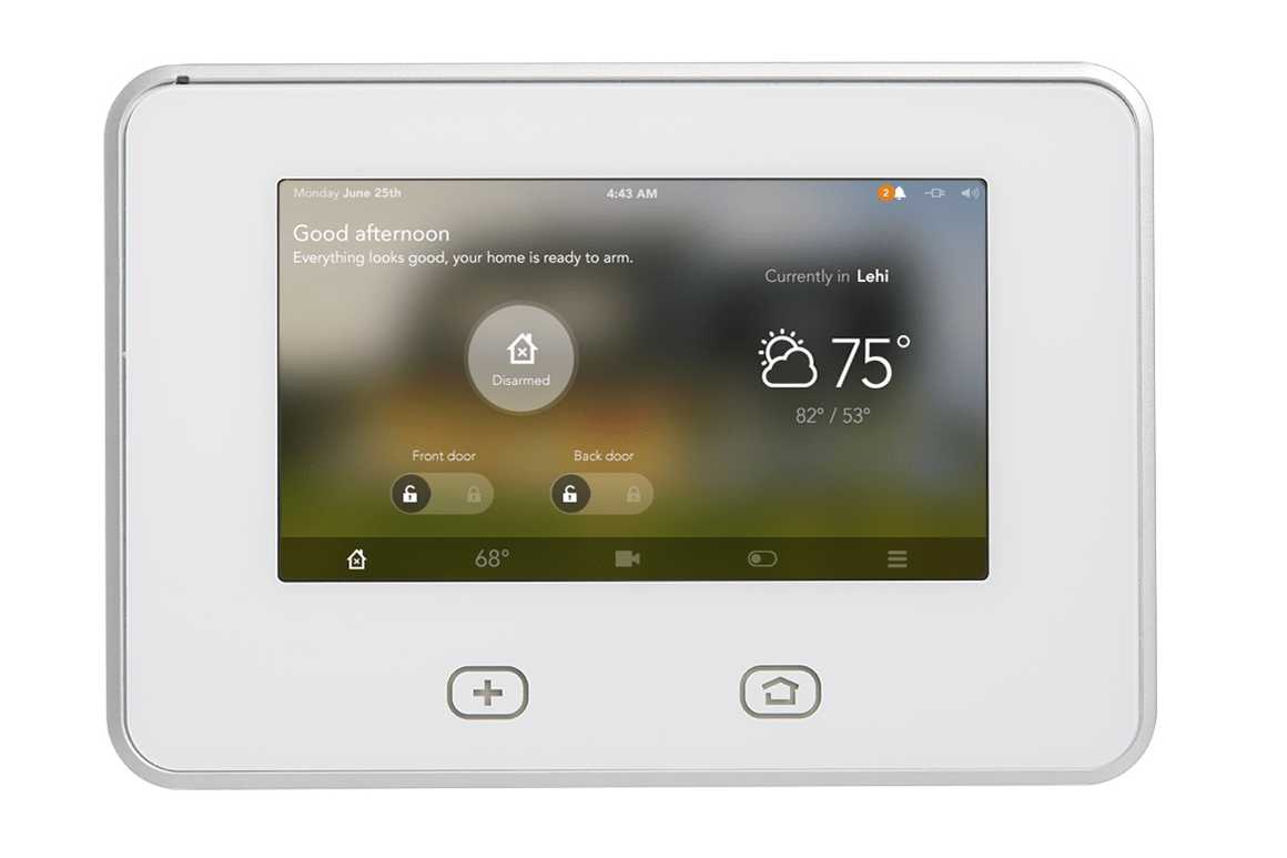 vivint smart thermostat wiring diagram gorilla skeleton new home control system learns and adapts to your activity patterns s latest touchscreen panel is at the heart of its all sky click enlarge image
