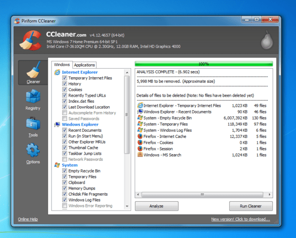 how to remove files free space hard drive windows 7