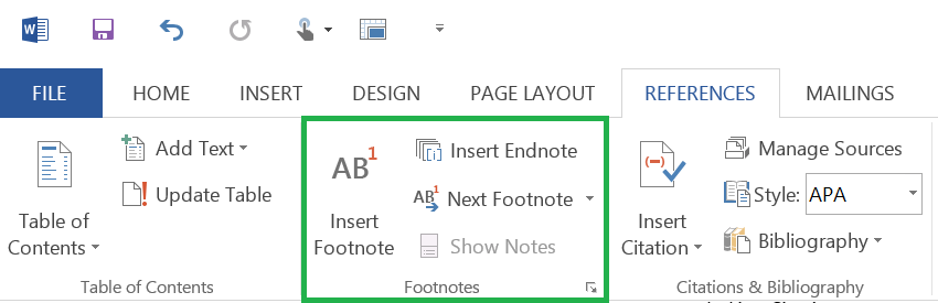 How To Use Microsoft Word's Works Cited Tools Sources Footnotes