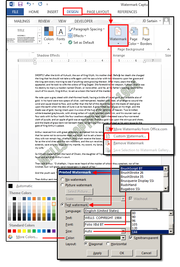 How To Add Draft To Word Document : draft, document, Microsoft, Watermarks:, Customize, Business, Personal, PCWorld