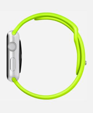 relógio do esporte verde maçã