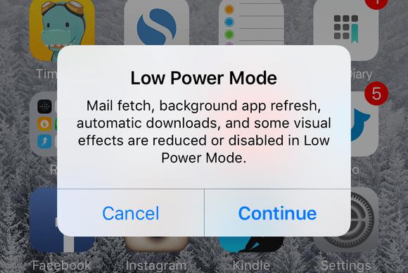 ios9 slideshow low power mode