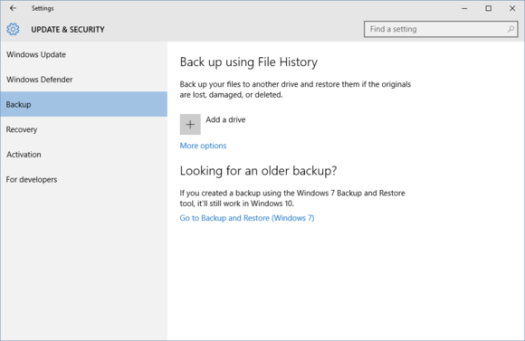 FileHistory Windows10