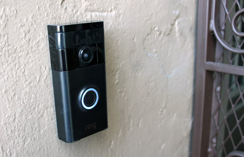 medium resolution of as soon as a visitor hits the button a blue light races around the circumference of the button and the doorbell emits a loud chime sound