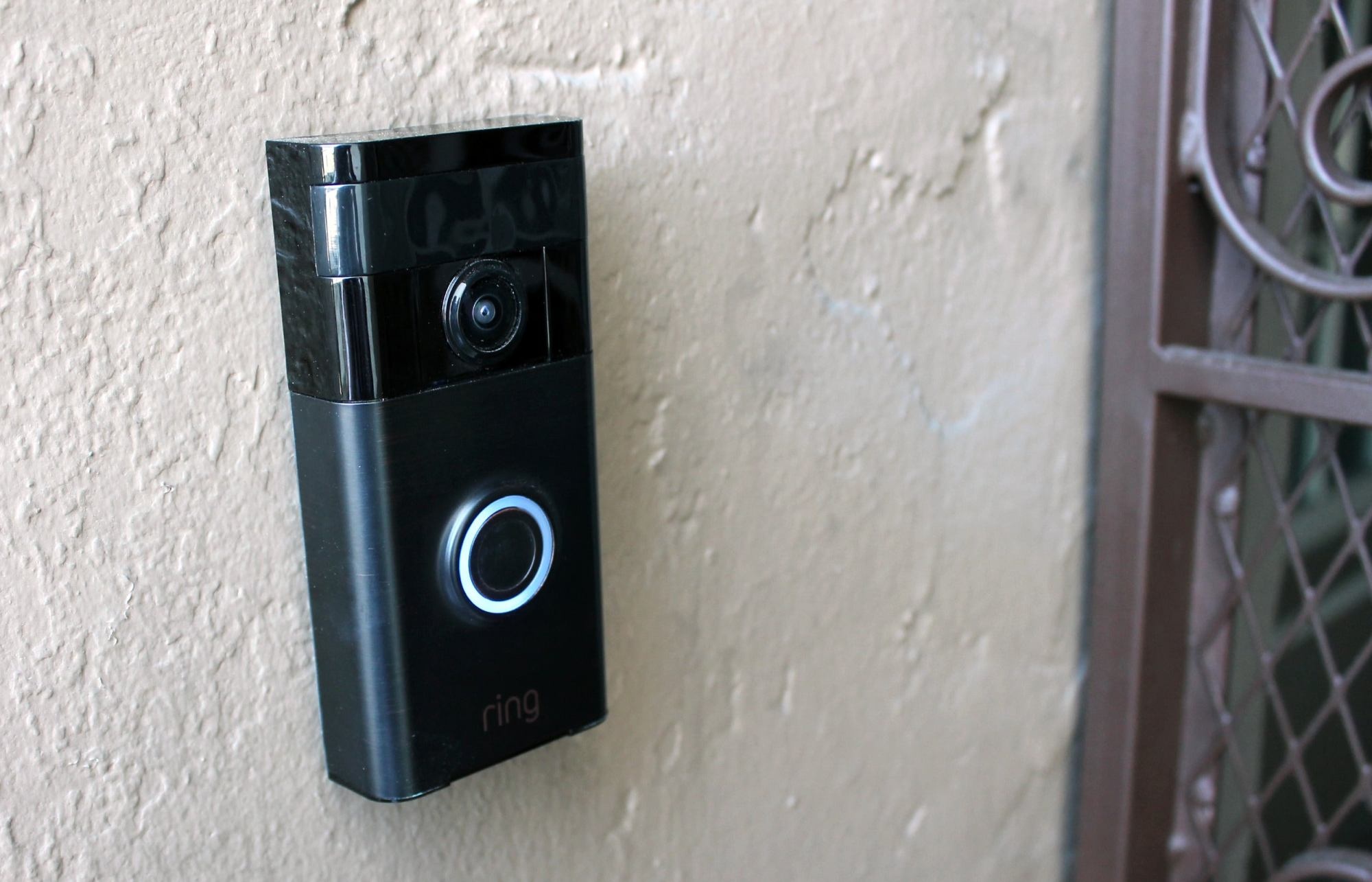 hight resolution of as soon as a visitor hits the button a blue light races around the circumference of the button and the doorbell emits a loud chime sound
