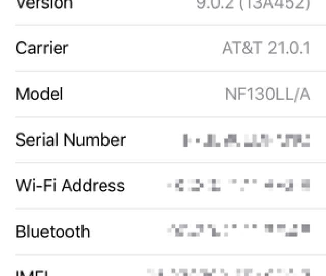 Find Serial Number Ios