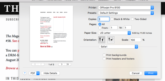 mac911 print dialog
