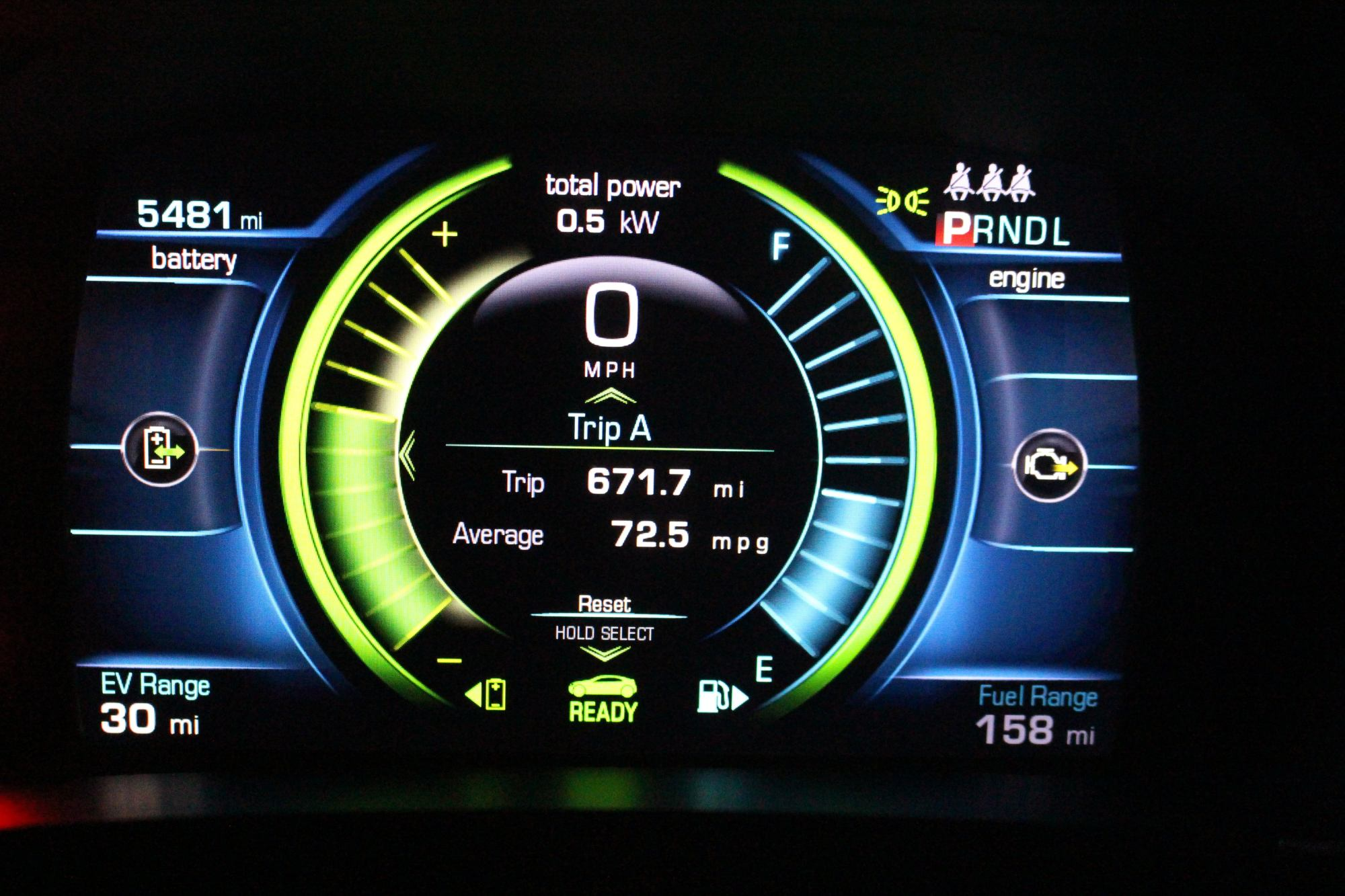 hight resolution of 2016 chevrolet volt instrument cluster