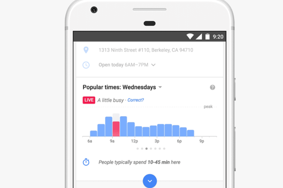 Google Maps will now tell you how busy a place is in real