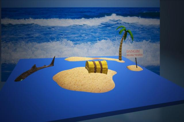 desert island with chest primary preferred view