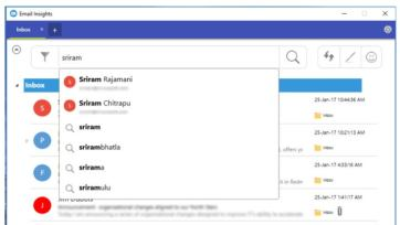 email insights search