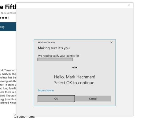 edge purchase using windows hello edit