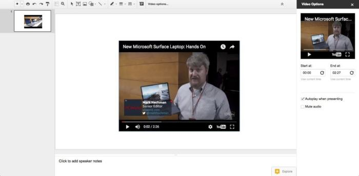 slides autoplay video