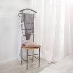 Bedroom Chair For Clothes Matching Living Room Chairs Standing Valet Hanger Butler Stand Wooden