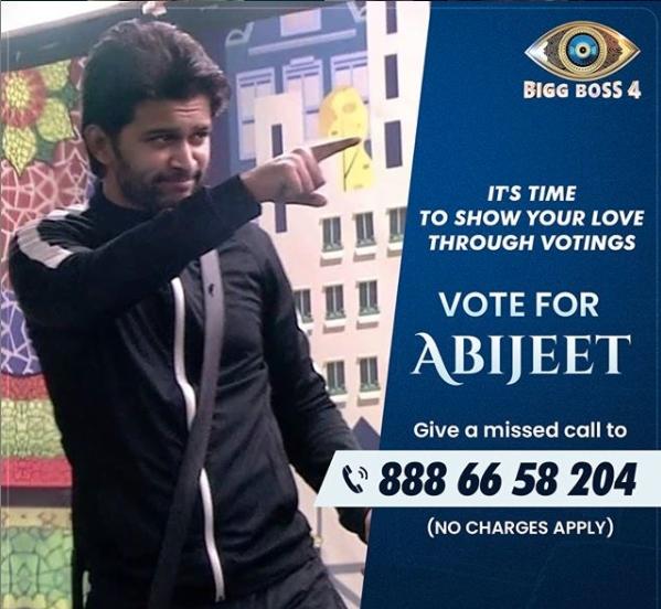 vote for abhijeet bigg boss