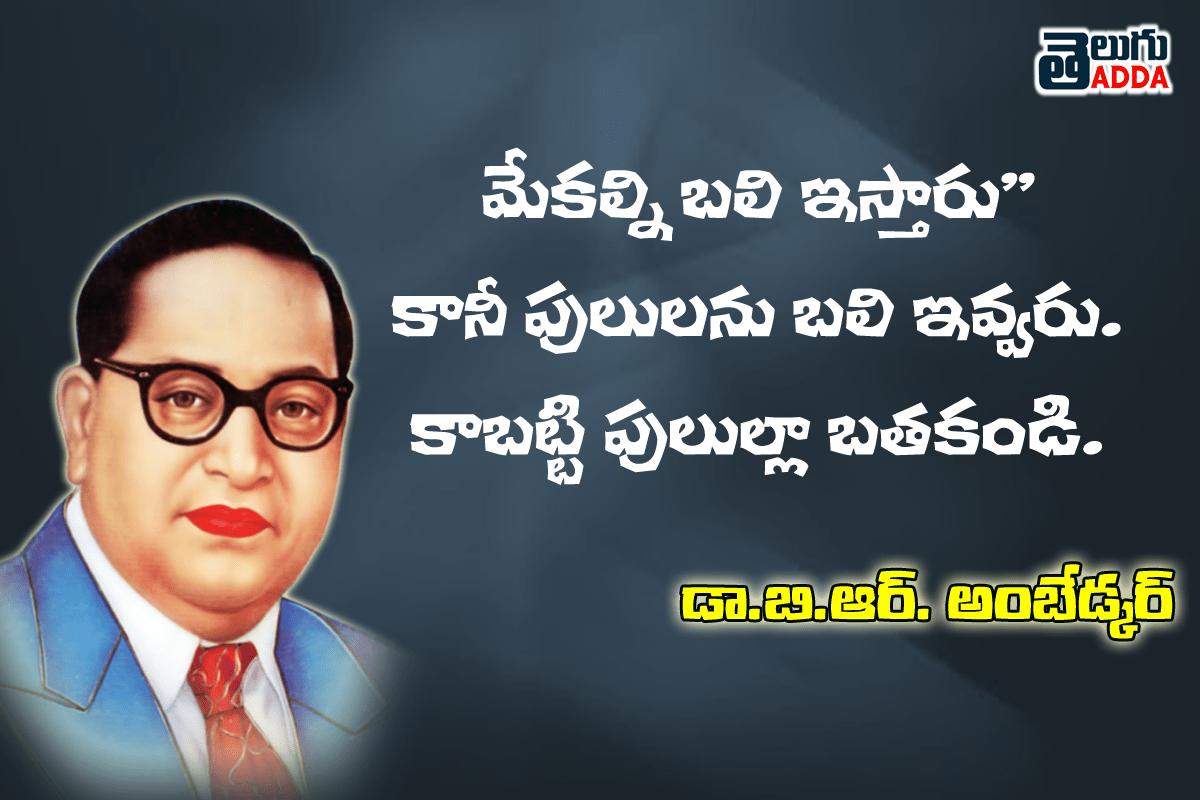 Br Ambedkar Quotes In Telugu