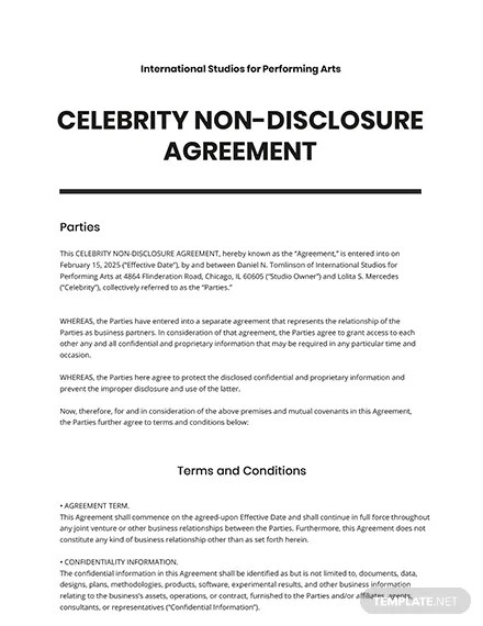 22/11/2017· international non disclosure agreement template. Celebrity Non Disclosure Agreement Template In Google Docs Word Apple Pages Template Net