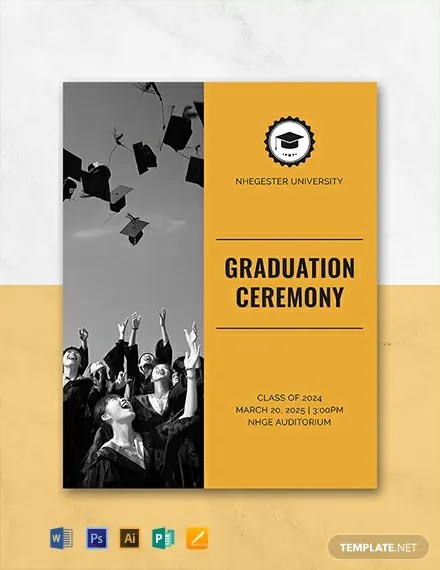 FREE Graduation Programs Template Download 31 Program Templates in PSD Illustrator InDesign