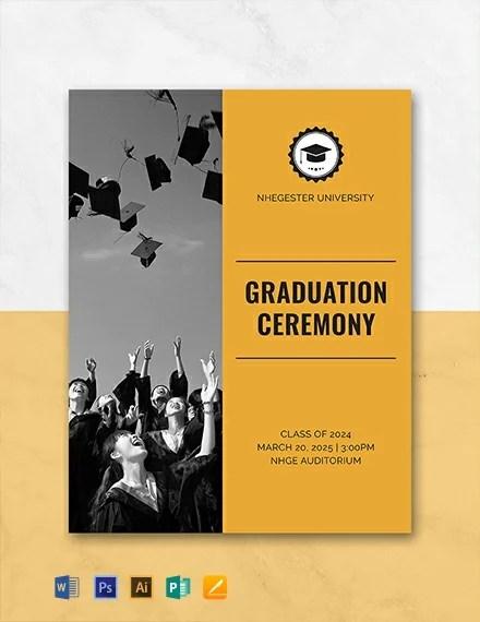 FREE Graduation Programs Template Download 31 Program