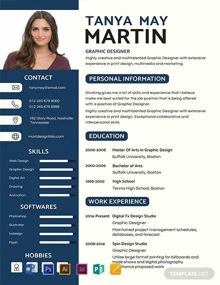 FREE Professional Resume and CV Template Download 1354 Resume Templates in PSD Word