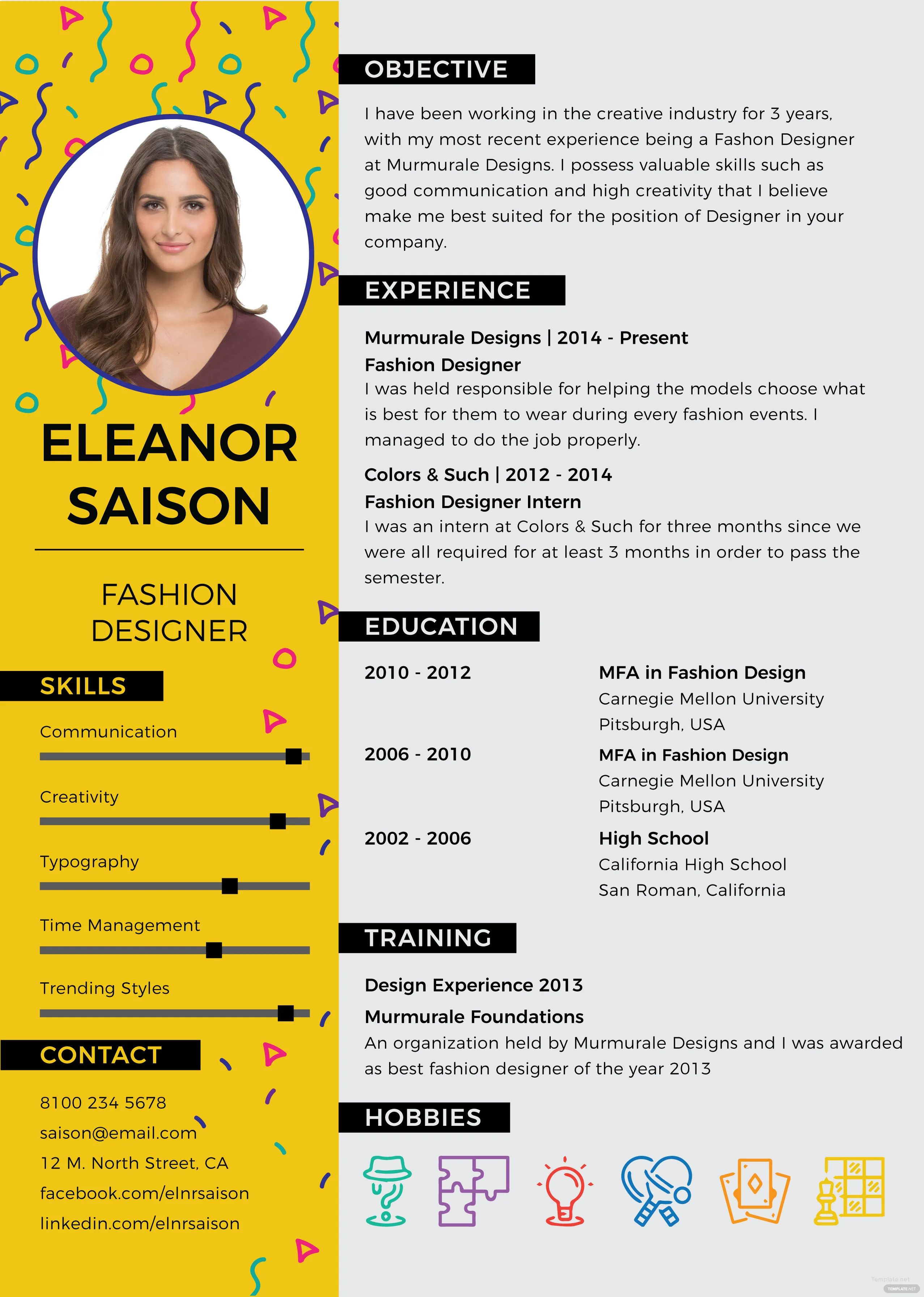 resume example for microsoft