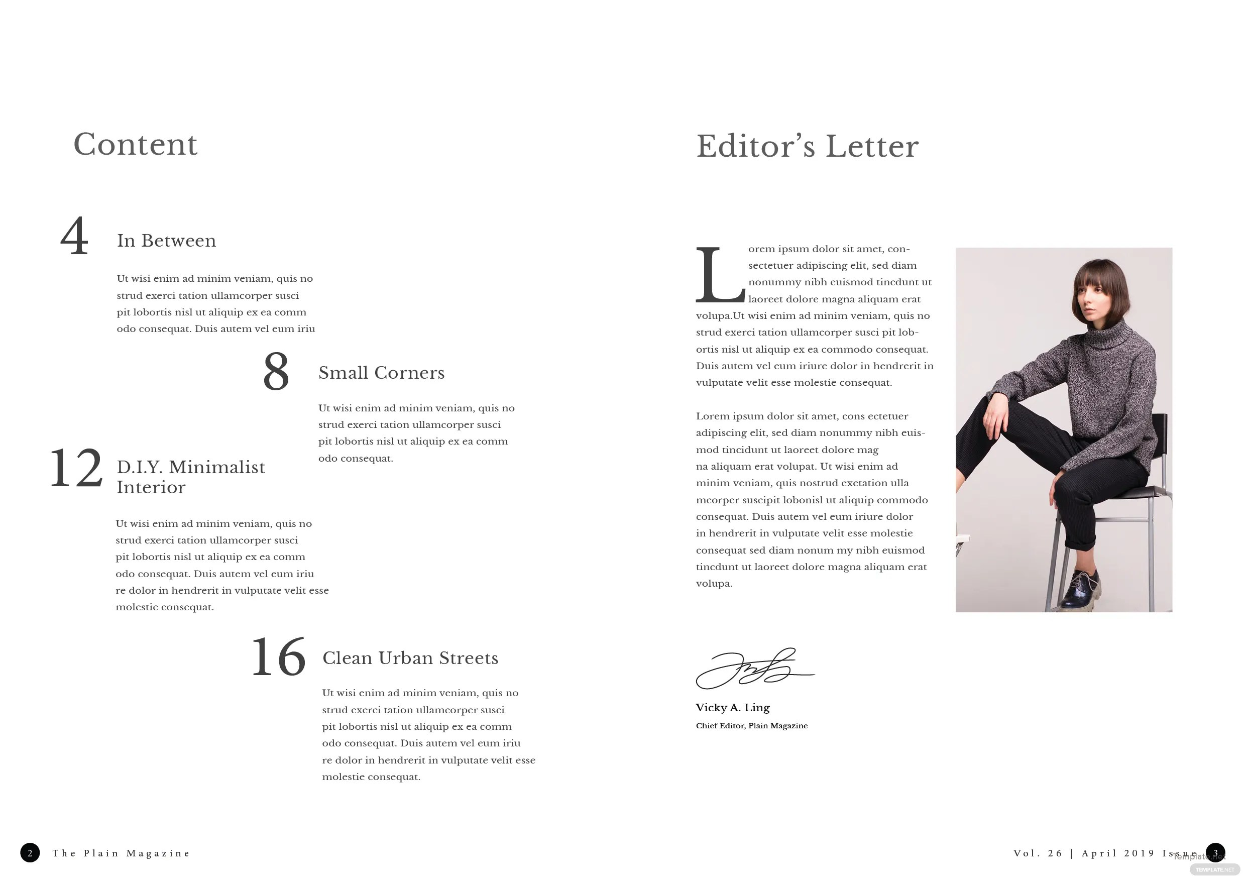 Free Minimalist Lookbook Magazine Template in Adobe