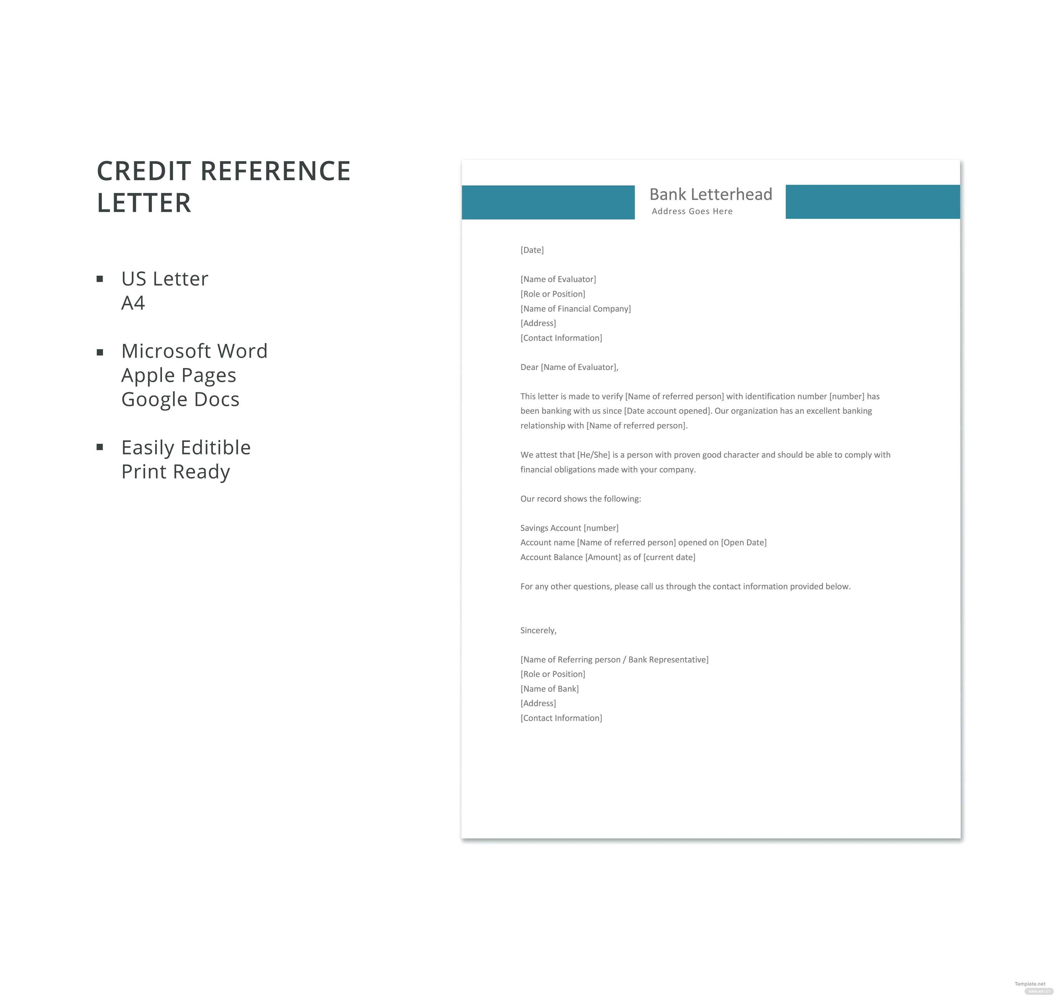 Printable sample credit reference letter form laywers t credit reference letter template leoncapers credit reference letter template expocarfo images expocarfo Gallery