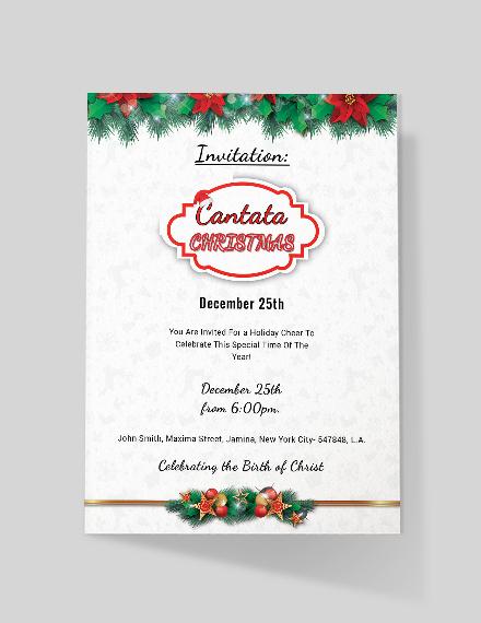 FREE Cantata Christmas Invitation Template Download 884 Invitations In Adobe Photoshop